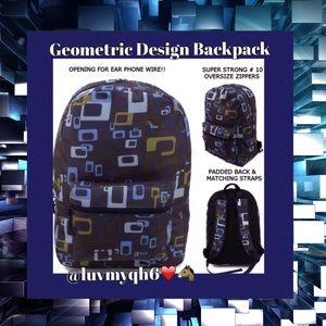 a2794f659331 Blue Geometric Design Backpack 🎉HP🎉